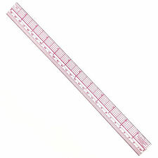 Westcott C-Thru 12-Inch/30cm 10ths/Metric Plastic Graph Beveled Ruler #B-65