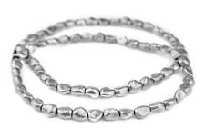 Aluminum Metal Nugget Beads 12x9mm Silver 16 Inch Strand