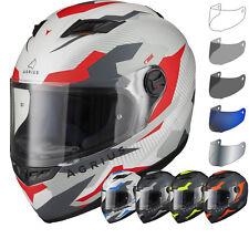 Agrius Rage Tracker Motorcycle Helmet & Visor Matt Full Face Rider Motorbike Lid