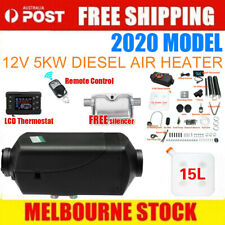 5KW 12V Air Diesel Heater Tank Vent Duct Thermostat Caravan Motorhome Remote AU