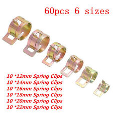 60PCS 12-22mm Spring Clip Vacuum Fuel Oil Hose Line Air Tube Band Clamp 6 Sizes