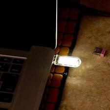 2Pcs Mini USB 3 LED Bright Night Light Lamp Gadgets for Car PC Laptop Reading