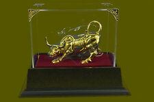 Angry Stock Market Bull Taurus Zodiac Bronze Statue Sculpture Figurine Decor Art