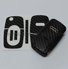 1A_Schlüssel-Dekor Aufkleber für 1. Gen. Audi A2 A3 A4 A6 A8 TT schwarz carbon
