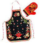 Khokhloma Tablier, Gant de cuisine set de cuisine Russev Tablier motif Khokhloma