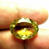 17.70 Ct Natural Lemon Quartz Loose Gemstone 20X15mm Oval Faceted Cut S731