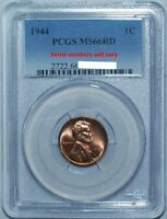 1944 PCGS MS66RD Lincoln Wheat Cent