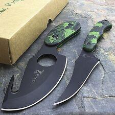 "7"" Elk Ridge Fixed Blade Camo Skinning Knife Set Gut Hook Fish Skinner Hunting"
