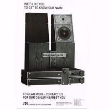 1988 Naim Audio Speakers Amplifiers Tuners Hi-Fi Stereo Vtg Print Ad