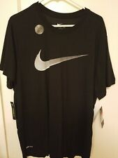 Nike Men's Dry Training Swoosh Tee Color Black Size L NEW with tag