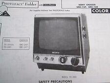 SONY SMC-157 & SMC-160 TELEVISION TV PHOTOFACT
