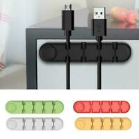 Cable Clips Cord Organizer Desktop Wire Holder Management For Earphone F2C6