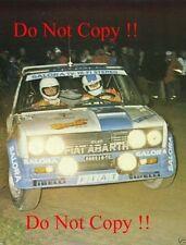 MARKKU ALEN FIAT 131 ABARTH vincitore 1000 Lakes Rally 1980 Fotografia