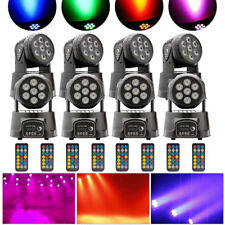 8PC 105W RGBW Stage Light Moving Head Light Beam Spot DMX Party DJ Disco Light
