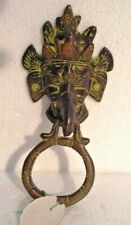 LARGE - Vintage Style BRASS Door Handle - LORD GANESHA Style  - BRASS (644)