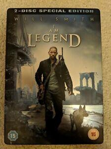 I AM LEGEND - 2 x Disc Special Edition DVD STEELBOOK - UK - Region 2 - PAL.