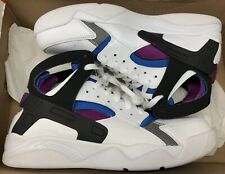 online retailer fb757 9627c Nike Air Flight Huarache PRM QS White Black Berry Blue 686203-100 Sz 11