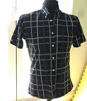 Ben Sherman Short Sleeve Shirt Check Slim Fit Mens Size 2M