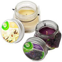 Scented Jar Candle x 2 Scented Vanilla Bean, Purple Blackberry Spice By AIRWICK