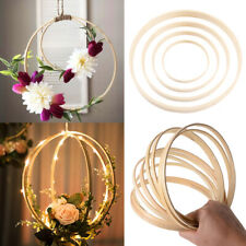 10PCS Bamboo Circle Hoops Craft Floral Wreath Macrame Rings DIY Dream Catcher