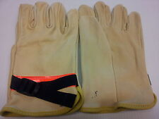 Size 9  LOW VOLTAGE PROTECTOR with Strap and Reflective tape GLOVES per Pair