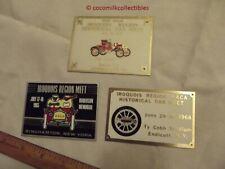 1965 3 Dash Plaques Iroquois Region AACA Car Show Meet Endicott Binghamton NY