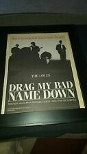 The 4 Of Us Drag My Bad Name Down Rare Original Radio Promo Poster Ad Framed!