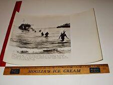 Rare Historical Original VTG WWII British Wade Ashore from Craft Sicily Photo