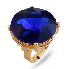 Fashion Men Women Big Crystal Ring Engagement Wedding Band Rings Jewelry Gift