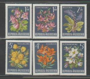 AUSTRIA FLOWER STAMPS 1966 ALPINE FLOWERS MNH - FL436