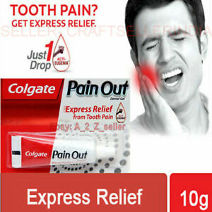 Colgate Pain Out tooth ache Relief dental care gel clove oil Eugenia 10ml UK USA