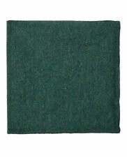 T.M.Lewin Mens Barberis Forest Green Wool Pocket Square
