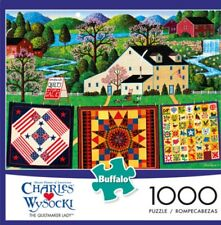 NEW CHARLES WYSOCKI 1000 PIECE JIGSAW PUZZLE BUFFALO GAMES The Quiltmaker Lady