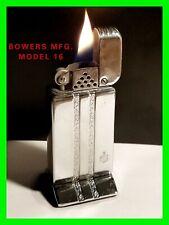 VERY HTF 1951 Vintage Bowers Model-15 Table Lighter Skyscraper Art Deco WORKING