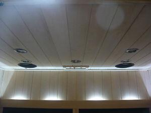 25,30 €/qm Hemlock Profilholz Saunaprofil Profilbretter statt Espe Sauna 274cm