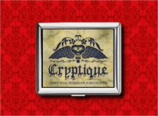 CRYPTIQUE OUIJA BOARD TOMBSTONE METAL WALLET CARD CIGARETTE ID IPOD CASE