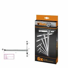 Beta Tools 951/S6 T-Handle Wrenches With Three Hexagon Male Ends Set Of 6