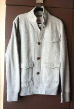 Men's Grey Sweatshirt fabric /Soviet/ Jacket Three pockets/Size Small