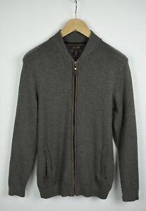 TASSO ELBA Men's MEDIUM Wool Blend Knitted Bomber Type Sweater VGC! 21260 JS