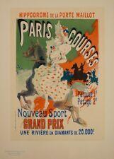 JULES CHERET Paris Courses Hippodrome, 1890, Art Nouveau Belle Epoque Poster