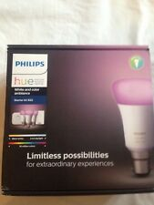 Philips B22 10W Bulb Hue White and Colour Ambience Starter Kit