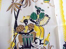 Vintage Black Americana African American Yellow Printed Towel - Tropical Theme