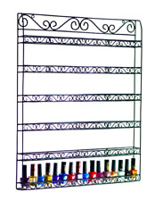 6 Tiers Nail Polish Wall Mount Organizer Holder Display - Hold Up To 102 Bottles