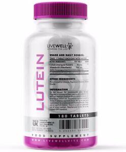 Lutein 50mg + Vitamin B2 Tablets | Antioxidant – Vision & Eye Health Vegan