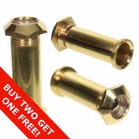 Quality Brass Spy Peephole  Adjustable Security Door Viewer Wide Angle 160 Deg