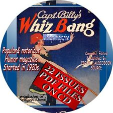 CAPT. BILLY'S WHIZ BANG VINTAGE MAGAZINE - 22 ISSUES - 1920s - HUMOR - PDF FILES