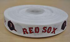 7/8 inch Boston Red Soxs Grosgrain Ribbon-1 Yard