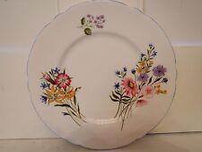 "Vintage Shelley Wild Flowers 6.5"" Plate Pale Blue Rim 13668"