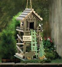 """New listing Birdville Wooden Rustic Forest Ranger Station Style Birdhouse 13.5"""" tall New"""