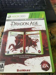 Dragon Age: Origins - Ultimate Edition (Microsoft Xbox 360, 2010) CIB Clean Disc